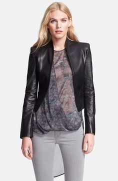 Halston+Heritage+Crop+Leather+Jacket+available+at+#Nordstrom