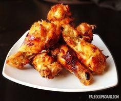 Paleo Honey Mustard Chicken Wing Recipe - www.PaleoCupboard.com