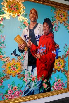 Kehinde Wiley Albert and Nikolaus Rubens, the Artist's Son 2006 oil . African Paintings, Paintings Famous, Portrait Paintings, African American Artist, American Artists, Visual Art Lessons, Kehinde Wiley, Ap Studio Art, Afro Art