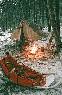 Winter Camping...I never want to camp in cold weather, but I do like this picture.
