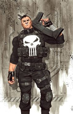Punisher by Jorge Molina Punisher Marvel, Marvel Vs, Marvel Comics, Marvel Comic Universe, Comics Universe, Marvel Heroes, Punisher Cosplay, Daredevil, Captain Marvel