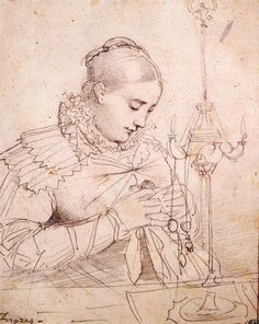 Jean-Auguste-Dominique Ingres (1780-1867) - Madame Jean Auguste Dominique Ingres