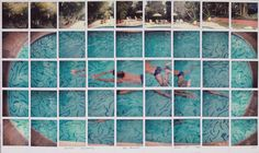 David Hockney, Nathan Swimming. Los Angeles, March 11th 1982, color Polaroid composite © David Hockney. Photo credit Richard Schmidt.