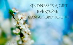 Kindness is a gift everyone can afford to give. | Islamic Quotes