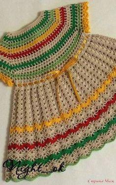 Dy Crochê!: Mais um lindo vestido infantil (com gráfico) encontrado por aí!