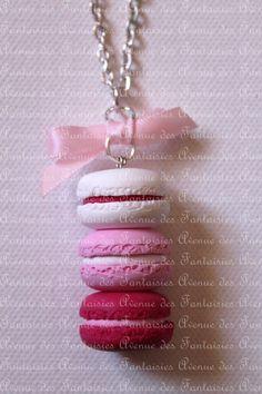 Trio de macarons roses