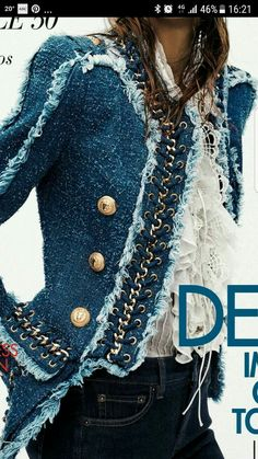 Funky Fashion To Couture, Our Tips And Tricks Are Tops – Designer Fashion Tips Trend Fashion, Denim Fashion, Fashion Details, Love Fashion, Winter Fashion, Fashion Outfits, Womens Fashion, Fashion Design, Moda Outfits