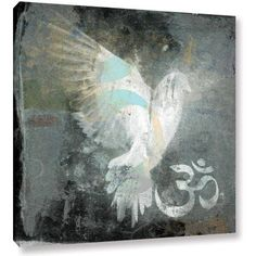 Elena Ray Om Dove Gallery-Wrapped Canvas Art, Size: 24 x 24, White