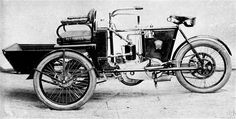 1905 Laurin & Klement LW Open three-seater tricycle (driver and two passengers), the engine in the middle and rear wheel drive. Kingdom Of Bohemia, Motorized Tricycle, Volkswagen Group, Rear Wheel Drive, Car Manufacturers, Cars And Motorcycles, Bicycle, Classic, Vehicles