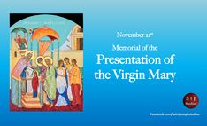 Presentation of Mary. The irony is she becomes the temple which houses the presence of God in the world.