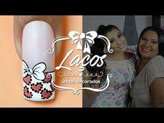 Unhas Decoradas Passo a Passo com Flores para Natal (nail art tutorial)   Cola na Villar - YouTube