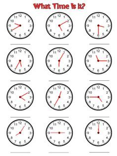 Looking for a Time Worksheets To The Minute. We have Time Worksheets To The Minute and the other about Benderos Printable Math it free. Clock Worksheets, 2nd Grade Math Worksheets, 1st Grade Math, Preschool Worksheets, Kindergarten Math, Printable Math Worksheets, Teaching Time, Teaching Math, Teaching Resources