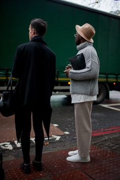 London Men's Fashion Week street style http://www.womenswatchhouse.com/