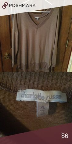 Thin VNeck Sweater Soft and thin! Only worn once. Charlotte Russe Sweaters V-Necks
