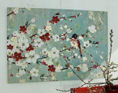 Tableau branche de cerisier