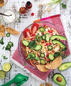 You'll find the mexican layer dip  recipe in our third magazine, page 47.
