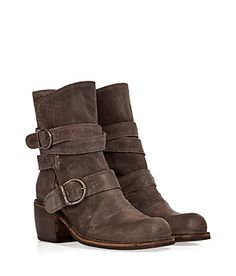 A dressed-up take on the biker boot, Fiorentini & Baker's chocolate suede buckled iteration is both edgy and versatile #Stylebop