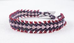 Bracelet. Handwoven St Petersburg Stitch. by slipstreamblue