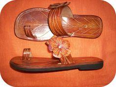 TROPIQUE FLORA Summer Leather Sandals - Handmade - $75.00 via https://www.etsy.com/shop/TropicalChicStyle