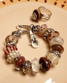 Chocolate colored trollbeads bracelet