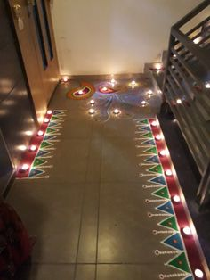 30 Dazzling Diwali Decorations DIY Ideas to Brighten-Up Your Home - Lifestyle Spunk Indian Rangoli Designs, Rangoli Designs Latest, Rangoli Designs Flower, Rangoli Border Designs, Colorful Rangoli Designs, Rangoli Designs Images, Flower Rangoli, Beautiful Rangoli Designs, Easy Rangoli Designs Diwali