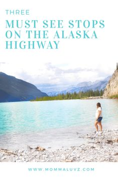 The Alaska Highway: Three Must See Stops Come join me on three of my favorite stops along the Alaska Highway. From jade colored lakes to natural hot springs, the drive will not disappoint. Wanderlust Travel, Us Travel, Family Travel, Alaska Travel, Canada Travel, Alaska Trip, Alcan Highway, Alaska Highway, Highway Road