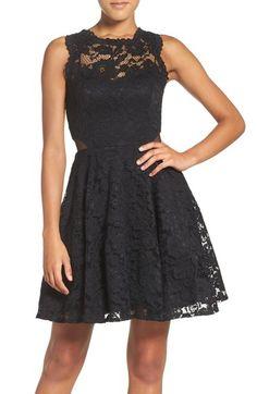 Main Image - Xscape Illusion Lace Fit & Flare Dress