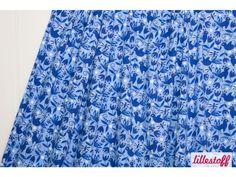 Vororder Lillestoff Blue Porcelaine Vögel Libellen von Rotznaeschenmode auf DaWanda.com