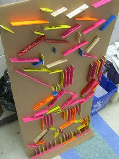 Marble Run game made for elementary students. Could be used for classroom management or as a reward.: