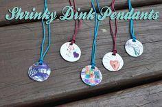 Shrinky Dink Pendant Tutorail - Great way to preserve memories of kid's drawings.