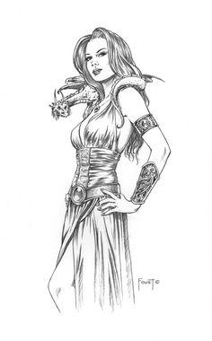 Dragon Mistress by *MitchFoust on deviantART