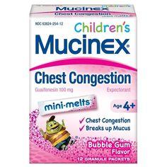 11 Best Children S Mucinex Images Chest Congestion