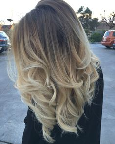 Ash Natural Blonde to Icy Light Blonde Balayage Ombre
