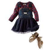 Tradition meets tulle for a totally new take on our genuine article. Pair it with plaid poplin for a classic look.