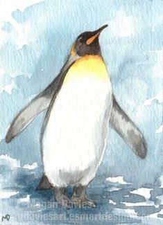King Penguin ACEO by ~Pannya on deviantART. [Very close to tattoo design I want.]