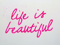 Life is beautiful neon quote