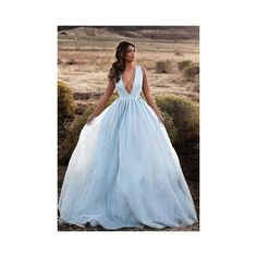 FLORENCE GOWN Lurelly ❤ liked on Polyvore featuring dresses, gowns, flower dress, blue flower dress, sheer evening gown, see-through dresses and blue dress
