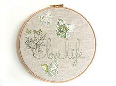 hoop art - embroidery plus appliqued elements