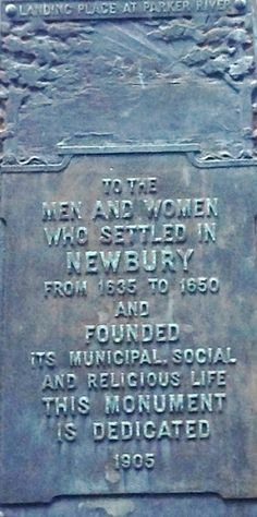 Life From The Roots: Where the First Settlers of Newbury, Massachusetts Landed and Lived