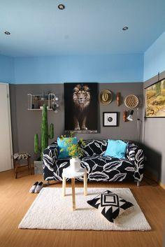 22 bunte raumideen decke streichen und tapezieren wohnideen pinterest decke streichen. Black Bedroom Furniture Sets. Home Design Ideas