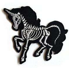 Skeleton Unicorn Patch