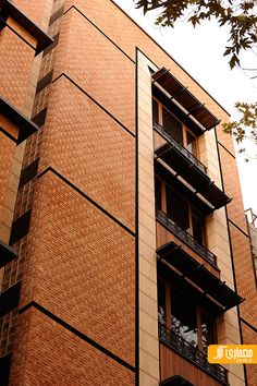 Related image Brick In The Wall, Brick And Stone, Stone Work, Facade Architecture, Amazing Architecture, Residential Complex, Brick Facade, Interesting Buildings, Building Facade