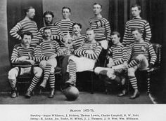 A photograph of the Queen's Park FC team of 1873–74.