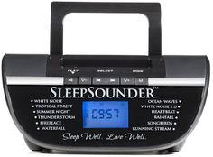 Sleep Sound Machine - The SleepSounder Sleeping Sound Machine Plays 12 Relaxing Nature Sounds to Lull You Into a Deep, Restorative Sleep.
