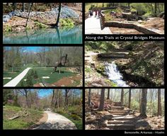 The trails surrounding the new Crystal Bridges Museum on American Art-Bentonville, AR