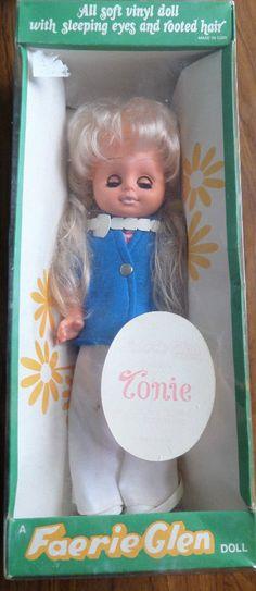 "1950s/60s Faerie Glen All Soft Vinyl "" Tonie "" Vintage Doll BOXED Sleeping Eyes | 12.99+5.99"