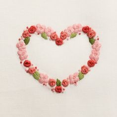 Flower Heart<br>Hand Towel - Ivory Cotton