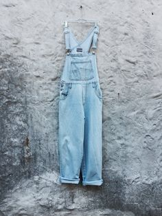 Vintage 90s Faded Denim Jean Baggy Long by WhiteCityVintage