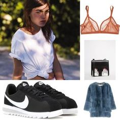 Turn a simple T-shirt, button down shirt, top, tunic or blouse into a cool crop top. The Tie Knotted shirt is here to let your imagination soar and sport a new look. Purple Fashion, Diy Fashion, Fashion Tips, Fashion Ideas, Korean Fashion, Fashion Women, Casual Summer Outfits, Cute Outfits, Classy Outfits