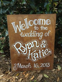 Custom painted wedding sign done at Jenny B's {Art}!!!